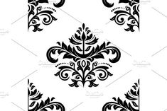 Oriental vector pattern with damask, arabesque and floral elements. Damask Patterns, Arabic Design, Arabesque, Vector Pattern, Abstract Backgrounds, Oriental, Floral, Cards, Flowers