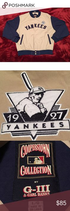 VTG NY Yankees 1927 Cooperstown Collection Jacket Excellent Condition. 10/10. New York Yankees 1927 Carl Banks G-III Sports Lightweight Jacket. Men's Size Large. Carl Banks G-III Jackets & Coats Lightweight & Shirt Jackets