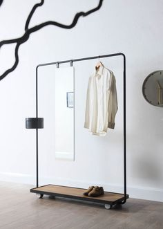 99 Relaxing Wooden Rack Ideas To Be Applied Into Any Home Styles : - You are able to purchase a wine glass shelf in about any configuration and measurements it is possible to imagine. Some shelves are created to hold an. Wooden Bedroom, Bedroom Furniture, Furniture Design, Rack Design, Store Design, Mirrors With Leather Straps, Round Wooden Tray, Wine Glass Shelf, Open Wardrobe