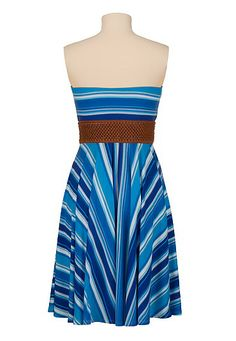 multi stripe belted tube dress 10% Off Sitewide + Free Shipping On $50+ everdealz