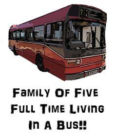 www.youtube.com/thelittlesthobo Family Of Five, Full Time Living In A Bus!!