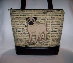 A personal favorite from my Etsy shop https://www.etsy.com/listing/492941648/pug-purse-in-oscars-roll-call-fabric