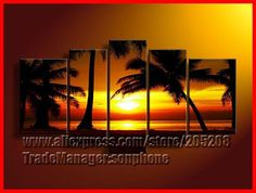 Find More Painting & Calligraphy Information about Framed 5 Panel Large Tall Palms Trees Beach Painting 5 Panel Canvas Art Home Decor Buy Coconut Tree Picture XD01559,High Quality decorated model homes pictures,China decorating framed pictures Suppliers, Cheap decorate picture from Sonphone Group on Aliexpress.com