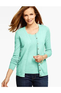 Long-Sleeve Charming Cardigan - Talbots