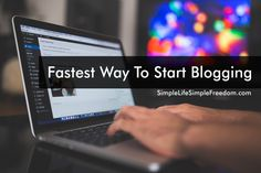 The fastest way to start blogging is to use done for you blogging platforms where you just sign up, pick a theme and get to work. Click Here to See More...