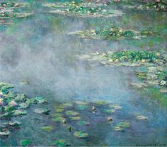 Claude Monet's Water Lilies. Completion date: 1906. Oil on canvas.