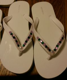 Wedding Party Flip Flops for the reception