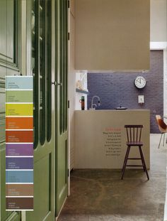 Colorful interior {page frome Color Studio Magazine van Histor}