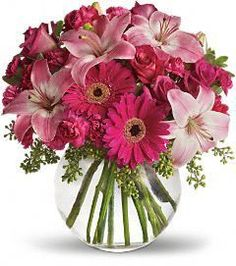 Gerbera Daisy and Lily Bowl