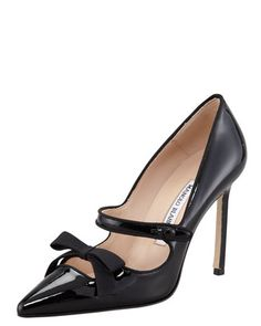 Fiocam Patent Leather Mary Jane Pump by Manolo Blahnik at Bergdorf Goodman.