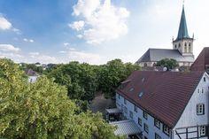 Nicolai-Viertel mit Blick auf die Evangelische Stadtkirche in Unna, Nordrhein-Westfalen.