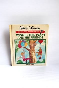 WINNIE the POOH and his FRIENDS, Vintage book,vintage child's book, children's book,vintage Choose Your Adventure book,Winnie the Pooh book