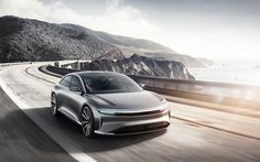 LUCID AIR - Showcar 2017 - Slim Headlights - Low Beam On - ...It was hard work but also a great team!                                                           © www.lucidmotors.com   #lucidmotors #exteriorlights #lucidair #innovation #exteriordesign #carlamps #showcar #conceptcar #maxklimke