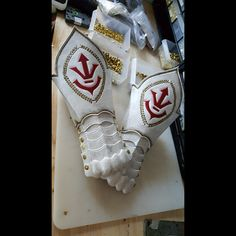WIP of the gauntlets made for the Medieval Vegeta armor last year #princearmory #leather #custom #customleather #customarmor #armor #costume #Vegeta #dragonballz #medievalvegeta #courtarmor #fantasy #art #layers #handmade #throwback #trending #leatherart #medievalarmor #LARP #cosplay