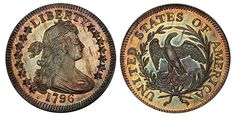 1796 Draped Bust Quarter  Just sold for $1.53 Million at auction.