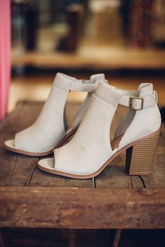 How cute are these Grey Open Toe Booties?! They are perfect for those family barbecues and reunions this summer! Grey Open Toe Booties - Single Thread Boutique, $38.00 #grey #open #toe #booties #summer #stylish #faux #leather #cutouts #buckles #chunky #heel #trendy #singlethreadbtq #shopstb #boutique