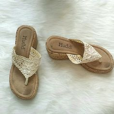 NWOT Boho Crochet Wedges NWOT Boho Crochet Wedges. So comfortable!! Message me with any questions xo Mudd Shoes Wedges