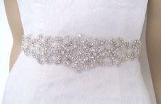 Wedding beltbridal beltCrystal bridal sashKate 20 by BridalStar, $69.00