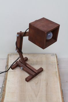 wooden table lamp rustic wood