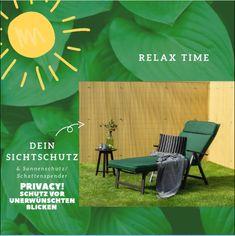 Relax Time  Dein Sichtschutz schützt vor neugierigen Blicken. Der Sonnenschutz Zaun spendet Schatten. Perfekt um sich im Garten oder auf der Terrasse zu entspannen. _____________ #MySolRoyal #SolRoyal #positivevibes #happy #relax #relaxtime #summer #sun #garden #garten #terrasse #homestyle #homedecor #interior #nature #outdoor #love #flowers #green #home #design #decoration #interiordesign #house #furniture #homedeco #inspiration #interiordecorating #fineinteriors Relax, Outdoor, Inspiration, Furniture, Design, House, Home Decor, Patio, Solar Shades