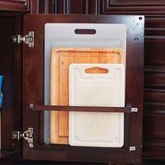an improvised cutting board holder