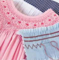 Tips and tricks from Martha Pullen's book The Joy of Smocking.