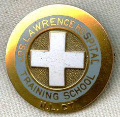 1920s-30s Jos. Lawrence Hosp. Training School (New London, Connecticut) Nurse Graduation Pin
