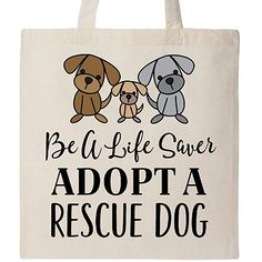 85163c6596a4 Inktastic - Adopt A Rescue Dog Pet Gift Tote Bag Natural 2bf60 Foster Cat,  Rescue