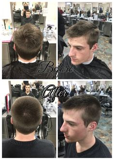 Haircut using clippers over clipper b on sides and 1