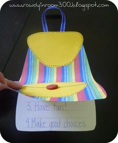 Nicole over at Rowdy in Room 300 does this adorable backpack craftivity with her kinders the first week of school to help reinforce classroom rules {or 'norms', if you've moved to that philosophy! Classroom Freebies, Classroom Rules, Classroom Crafts, School Classroom, Classroom Expectations, Classroom Ideas, Kindergarten Lesson Plans, Teaching Kindergarten, Teaching Tools