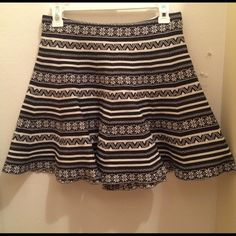 Black & White Aztec Skater Skirt Black and white Aztec print skater skirt. Size small by Cotton On. NEW WITH TAGS, retail: 29.95 Cotton On Skirts Circle & Skater
