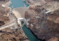 Hoover Dam, Nevada - Arizona Border ~ Been there, very neat to see. We got to go inside the dam (that was b/f they closed it off b/c of 9-11)