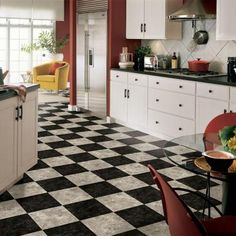 Armstrong 12 ft. Wide Caspian II Checkerboard Gray Vinyl Sheet-G4531 at The Home Depot