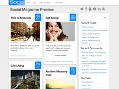 WordPress › Social Magazine « Free WordPress Themes