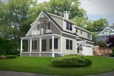 Country Style House Plan - 3 Beds 2.5 Baths 1766 Sq/Ft Plan #546-4 Exterior - Front Elevation - Houseplans.com