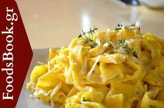 Χειροποίητες Παπαρδέλες με Κρέμα Παρμεζάνας - FoodsBook.gr