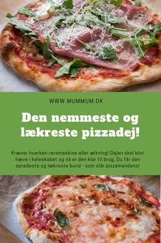 Opskrift fra www.mummum.dk Vegetable Pizza, Food To Make, Foodies, Chicken Recipes, Spaghetti, Food Porn, Brunch, Food And Drink, Snacks