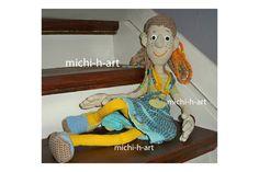 Häkelanleitungen - Puppe Schlenkerliesel Häkelanleitung - ein Designerstück von michi-h-art bei DaWanda