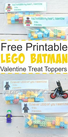 Free Printable Lego Batman Valentine Treat Toppers These free printable Lego Batman Valentine Treat Toppers are perfect for superhero lovers to hand out to classmates! Batman Valentine, Kinder Valentines, Valentine Treats, Valentine Day Crafts, Holiday Crafts, Holiday Ideas, Party Crafts, Valentine Box, Printable Day Planner