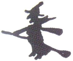 Halloween Fridgies/Appliques (s)  (black cat and witch)