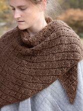 Free knitting pattern for diamond lace shawl Berta | Berroco