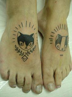 coole tattoos ideen fuss tattoo katzen