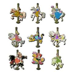 Disney pin sets | Disney Mystery Pin - Princess Carousel - COMPLETE SET