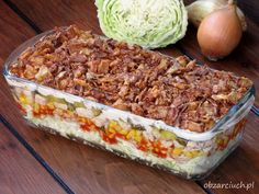 Sałatka HIT imprezy Thanksgiving Snacks, Good Food, Yummy Food, Sprout Recipes, Appetizer Salads, Polish Recipes, Salad Recipes, Food And Drink, Cooking Recipes