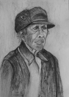 old man drawing