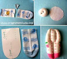 Ideias para as Moças SUD: Ideia para projeto de serviço + mutual - Bonecas de Meia
