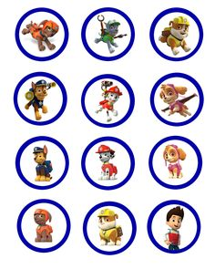 Pa-Patrol-Cupcake-Toppers1.jpg 2,400×3,000 pixeles