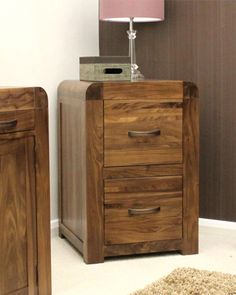 f540 - fantastic pair vintage french oak filing cabinets with 4