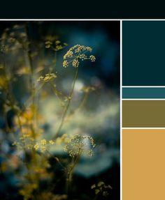 Dark Teal Color Palette for the Bedroom. Teal Color Schemes, Kitchen Colour Schemes, Kitchen Colors, Color Combos, Kitchen Yellow, Kitchen Grey, Kitchen Paint, Yellow Kitchens, Kitchen Ideas