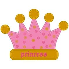 Princess Crown Applique - 3 Sizes! | Princess | Machine Embroidery Designs | SWAKembroidery.com Band to Bow